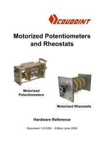 Motorized Potentiometers and Rheostats