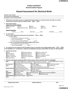 Hazard Assessment for Electrical Work + Energized Electrical Work
