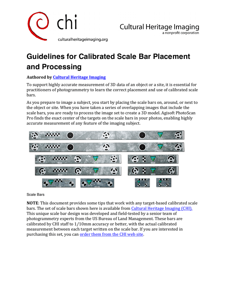 Guidelines for Calibrated Scale Bar Placement and Processing