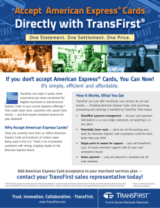 Accept American Express Cards