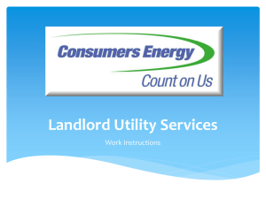 Landlord Portal - Consumers Energy