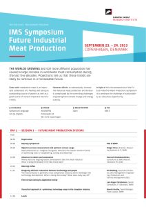 IMS Symposium Future Industrial Meat Production