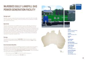 McROBIES GULLY LANDFILL GAS POWER GENERATION FACILITY