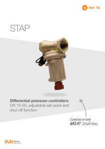 Differential Pressure Controllers STAP – DN 15-50