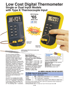 HH11 and HH12 : Low Cost Digital Thermometer, Single or Dual
