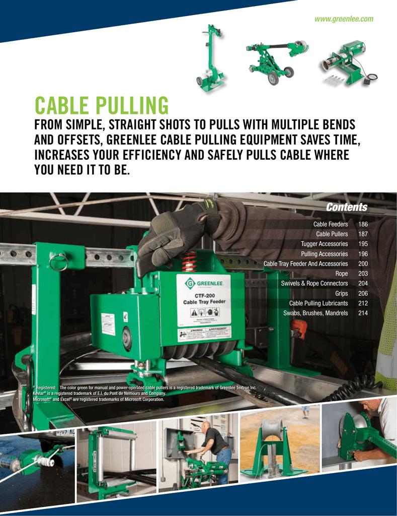 CABLE PULLING - greenlee.ebizcdn.com