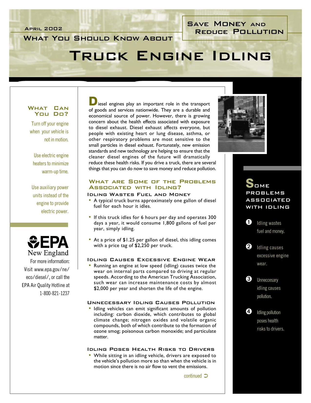 Truck Engine Idling