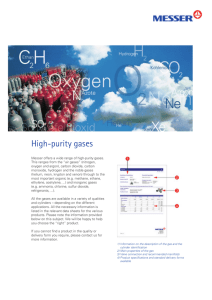High-purity gases