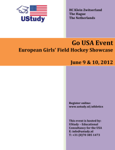 Announcement European Field Hockey Showcase 2012