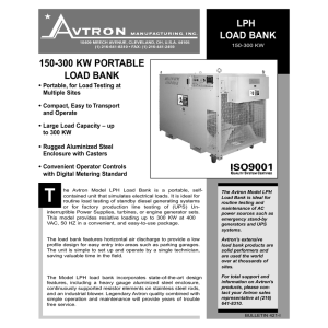 LPH LOAD BANK 150-300 KW PORTABLE LOAD BANK