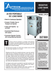 LPH-80 Resistive Load Bank