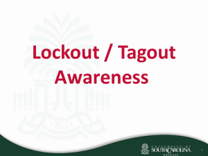 Lockout / Tagout Awareness