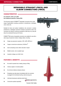 SEPARABLE STRAIGHT (FMCS) AND ELBOW CONNECTORS