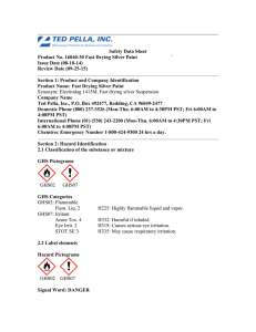 Safety Data Sheet Product No. 16040