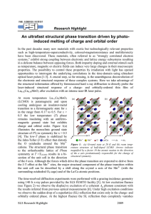 An ultrafast structural phase transition driven by photo