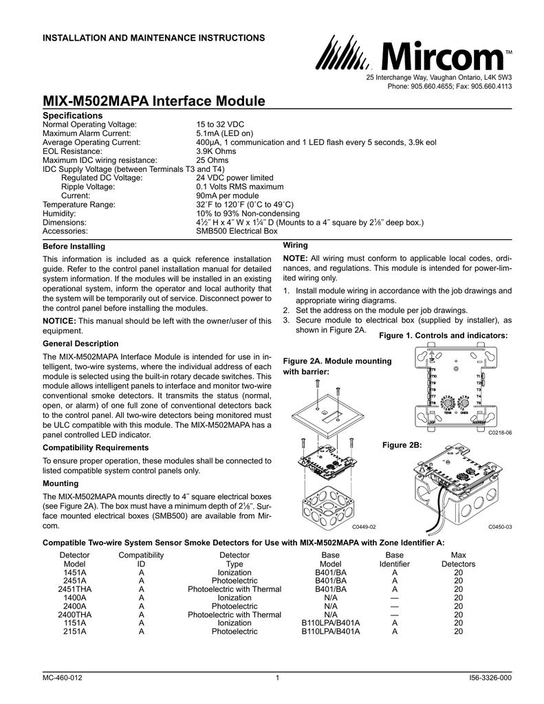 MIX-M502MAPA Interface Module