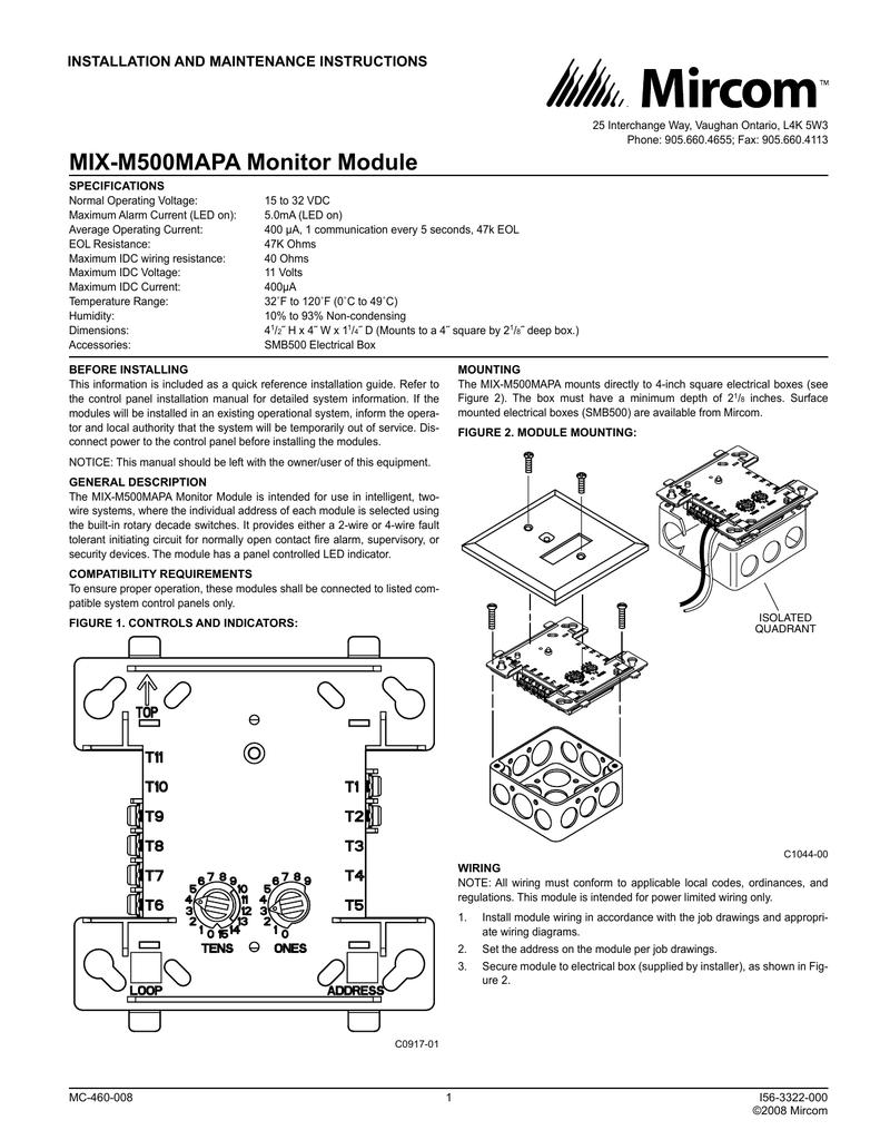 MIX-M500MAPA Monitor Module