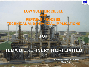 tema oil refinery (tor) limited