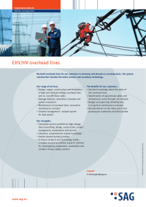 Overview of services for EHV/HV overhead lines