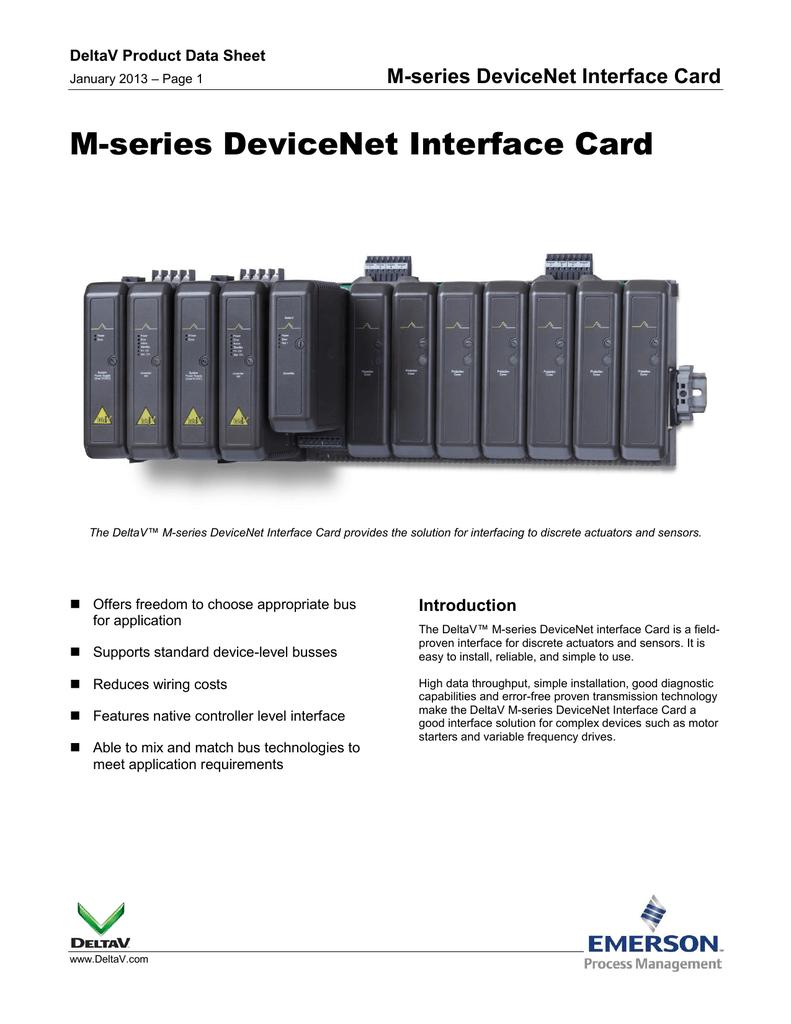 M Series Devicenet Interface Card Wiring Diagram