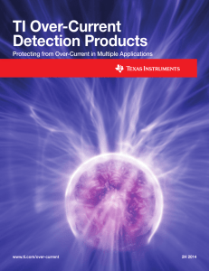 Over-Current Detection Products Brochure