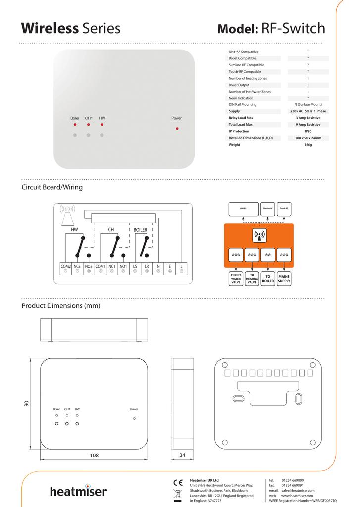 rf switch heatmiser SG Wiring at Heatmiser Uh8 Rf Wiring Diagram