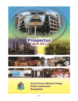 AFMC Prospectus - armed forces medical college