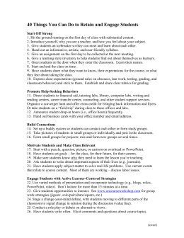 40 Ways to Engage and Motivate Students