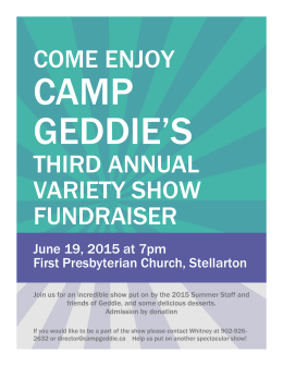 come enjoy third annual variety show fundraiser