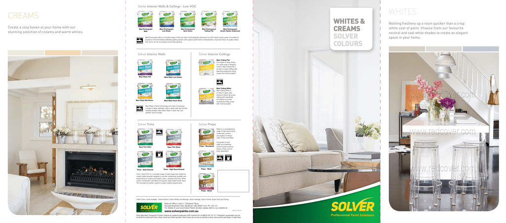 creams whites - Solver Paints on dulux paint colours, resene paint colours, taubmans paint colours,