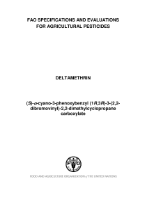 Deltamethrin - Food and Agriculture Organization of the United