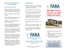 how can you prevent false alarms