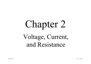 Chapter 2 - Voltage, Current, and Resistance