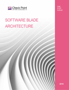 Software Blade Architecture