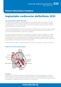 Implantable cardioverter defibrillator - patient information