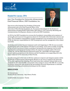 Daniel R. Lucas, CPA - University of West Florida