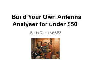 Build Your Own Antenna Analyser for under $50