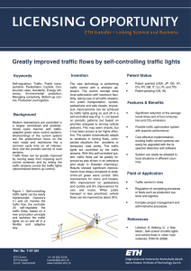 Greatly improved traffic flows by self