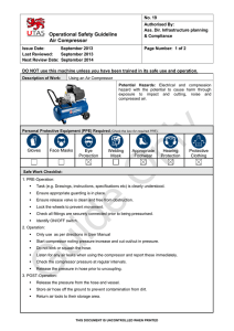 Operational Safety Guideline Air Compressor