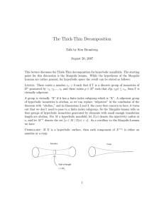 The Thick-Thin Decomposition