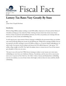 Lottery Tax Rates Vary Greatly By State