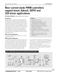 New current-mode PWM controllers support boost, flyback, SEPIC