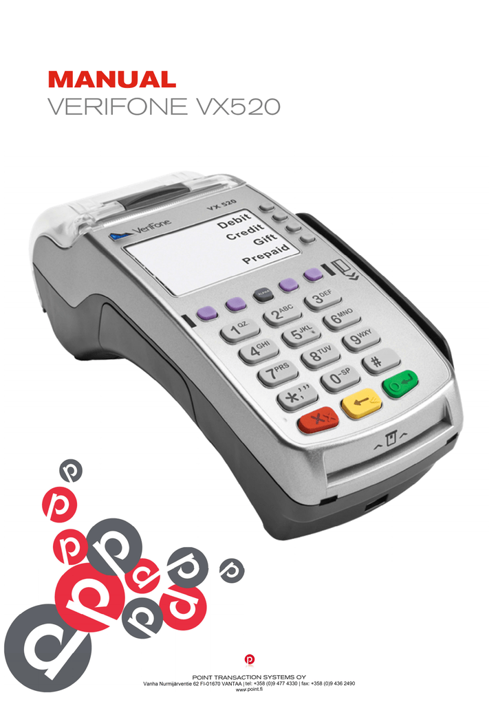 MANUAL VERIFONE VX520