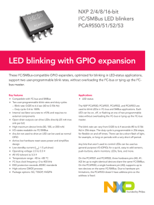 LED blinking with GPIO expansion