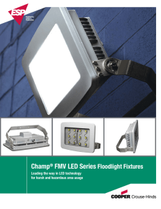 Champ® FMV LED Series Floodlight Fixtures