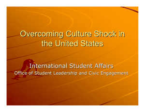 Overcoming Culture Shock in the United States