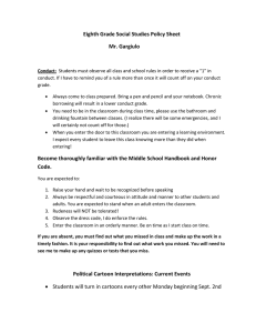 Policy Sheet - Maclay School