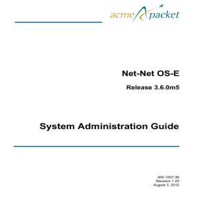 Net-Net OS-E System Administration Guide, Release 3.6.0m5