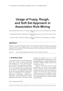 Usage of Fuzzy, Rough, and Soft Set Approach in Association Rule