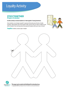 stick together - Character First Education